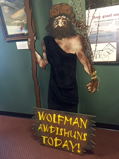 Take your picture with the wolfman!