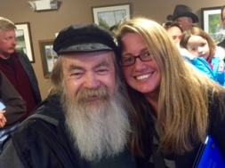 Frank Aurelio-- ONE of the Original Wolfmen with me, Heather Krill.