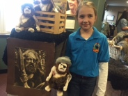 """Mackenna Mack one of the seasoned Clark's employees! Proceeds from the Wolfman """"Stuffies"""" went to support Jean's Playhouse."""