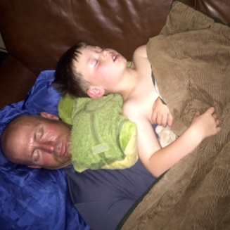 Resting with Daddy...