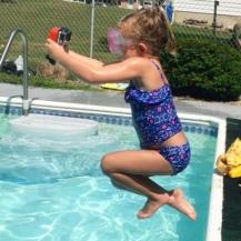 Greta filming herself jumping...