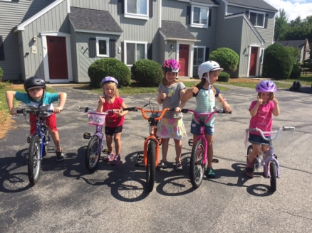 Bike gang...safest neighborhood to ride in!