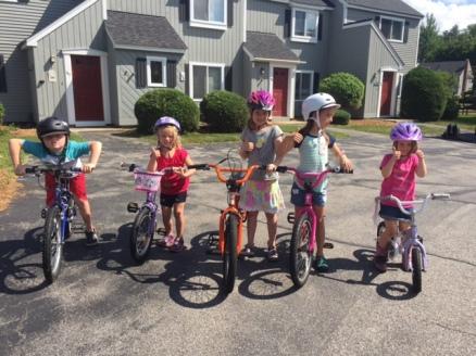 Bike gang...safest neighborhood to ride in!