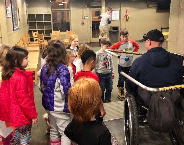 Geoff teaching kids